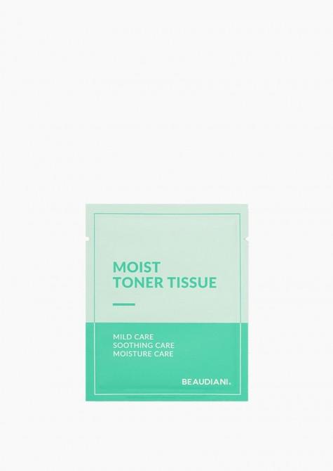 Moist toner tissue